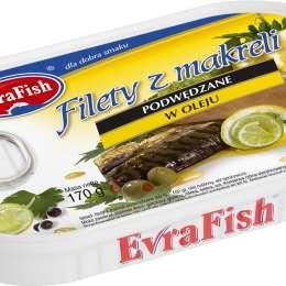 EVRA Filet z makreli podwędzany w oleju 170g